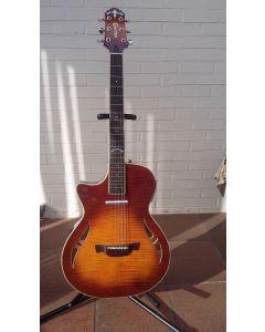 Crafter linkshandige hybride gitaar met koffer