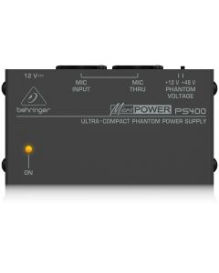 Behringer Micro Power PS400 fantoom voeding