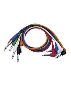 DAP FL1460 Mono Patch Kabel 60cm Recht Haaks (6 stuks)