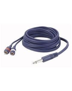 DAP FL333 Mono Jack - 2x RCA kabel 3m