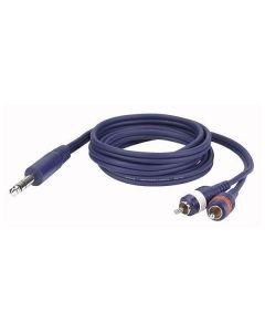 DAP FL35150 Stereo Jack - 2x RCA kabel 1.5m