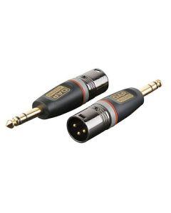 DAP XGA28 XLR Male -  Stereo Jack Male Adapter