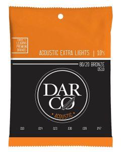 Darco D510 akoestische gitaarsnaren 80/20 bronze .010