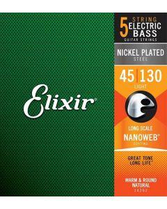 Elixir 5-snarige basgitaarsnaren 14202 45 - 130