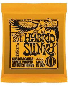 Ernie Ball 2222 Hybrid Slinky elektrische gitaarsnaren .009