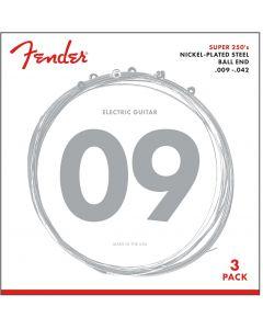 Fender 250L Super 250s Nikkel roundwound 3-pack .009