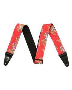 Fender Hawaiian 2inch gitaarband Red Floral