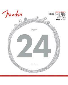 Fender Bass VI Super 250s Elektrische Basgitaar snaren 6 snarig .024