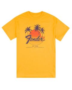 Fender T-Shirt Palm Sunshine Marigold S