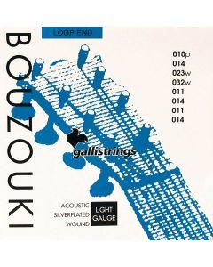 Galli Bouzouki snaren Silverplated .011