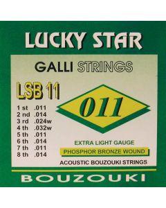 Galli LSB11 Lucky Star Bouzouki snaren forsfor-bronze .011