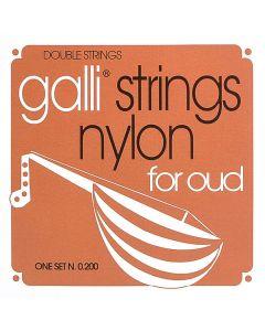 Galli O-200 Oud snaren silverplated .022