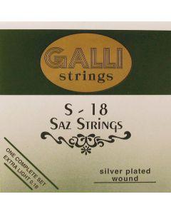 Galli S-018 Saz snaren silverplated .007