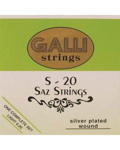 Galli S-020 Saz snaren silverplated .008