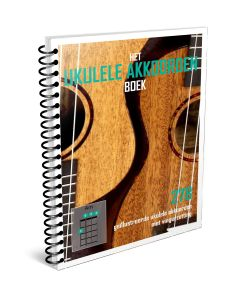 Het Ukulele Akkoordenboek Ringband. Fullcolor A4 ukulele akkoordenboek