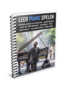Leer Piano Spelen Pianoboek in  ringband full color A4
