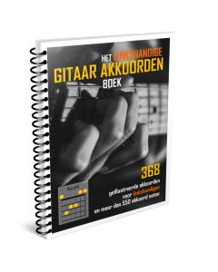 Linkshandige Gitaar akkoordenboek in Ringband Full Color A4 gitaarakkoordenboek