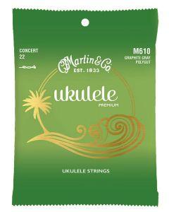 Martin M610 Premium Polygut Concert ukulele snaren .022