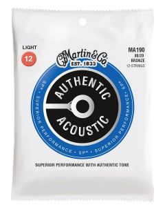 Martin MA190 Authentic Acoustic  80/20 bronze 12-snarig .012