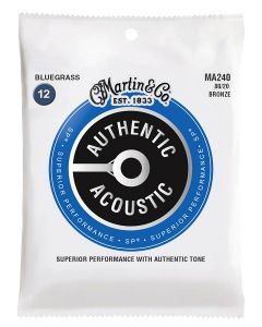 Martin MA240 Authentic Acoustic 80/20 bronze Bluegrass .012