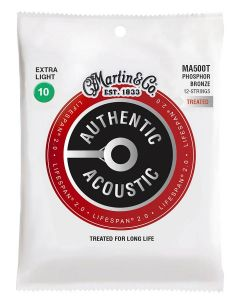 Martin MA500T Authentic Acoustic Lifespan 2.0 12-snarige gitaarsnaren fosfor/bronze .010