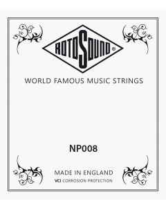 Rotosound losse .008 snaar voor western en elektrische gitaar