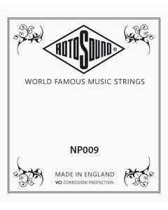 Rotosound losse .009 snaar voor western en elektrische gitaar