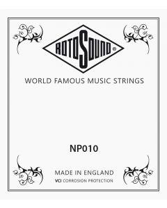 Rotosound losse .010 snaar voor western en elektrische gitaar