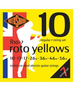 Rotosound R10-7 Roto Yellow 7-snarige elektrische gitaarsnaren .010