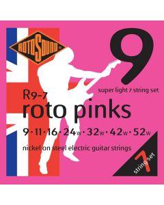 Rotosound R9-7 7-snarige elektrische gitaarsnaren .009