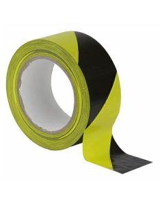 Showtec Vloertape 50mm 33m Geel Zwart