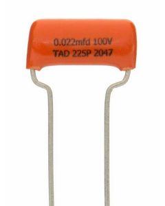 TAD Sprague Orange Drop 225P capacitor 0.022uF 100V