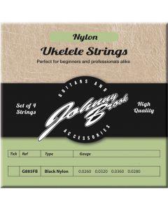 ukelele snaren black nylon kopen / zwarte snaren