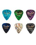 Fender Premium Celluloid plectrum set 6 stuks