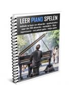 Leer Piano Spelen Pianoboek in  ringband full color A4
