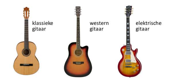 Gitaar leren spelen gitaarsoorten